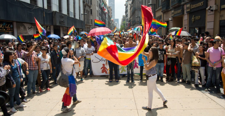 Mexico Thousands protest against same-sex marriage proposal.
